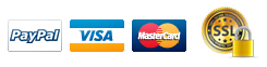 We accept Visa and Mastercard via Paypal Payments using SSL encryption.
